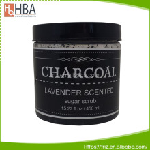 Deep cleansing activated facial body charcoal dead sea salt scrub