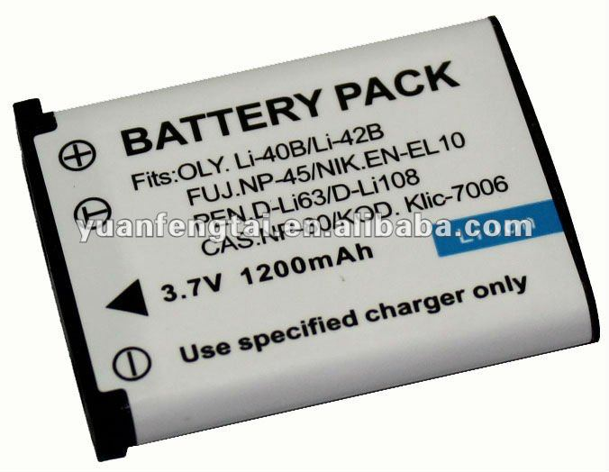 battery Digital Camera Battery for Pentax D-Li63 EN-EL10