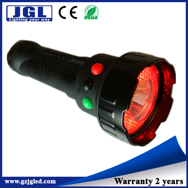 JG-A370 3w emergency flashlight rechargeable signal torch for Ministry of Railways