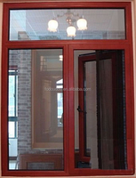 Wood Grain Inward Opening and Aluminum Frame Tilt And Turn Window NZ Fodoudou Aluminium Sliding Window