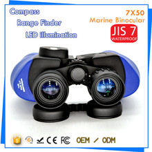 New Cheap 7x50 Navy Blue Navigation Marine Binoculars with Compass