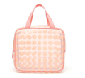 Lady fashion wholesale large capacity storage waterproof pvc transparent travel cosmetic bag