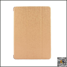 Three Fold Flip Leather Cover PC Back Case Smart Cover For iPad 6, leather case