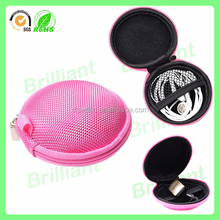 hard small eva foam zipper case bluetooth ear cover