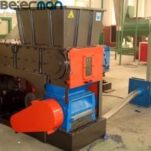Double/single shaft shredder for crushing plastic profiles/pipes/boards/sheets/films