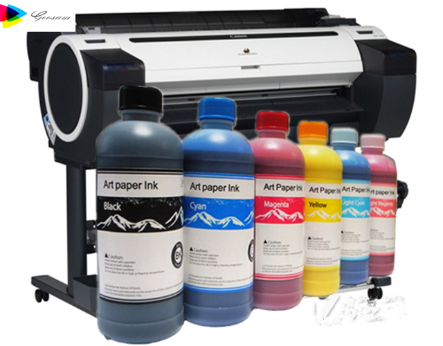 No coating waterproof art paper pigment ink for Canon iPF781 printer