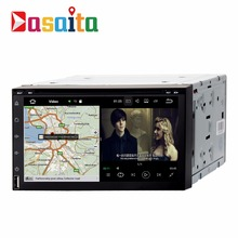 "DASAITA Android 7.1 7"" HD touch Screen 2 din universal car multimedia dvd player with gps navigation HDMI output"