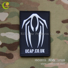 Grade customized silicone heat transfer label pvc rubber 3d patch for garment brand shoes badge bags brand logo