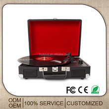 Customized USB Turntable Player Suitcase Modern Gramophone Player With USB