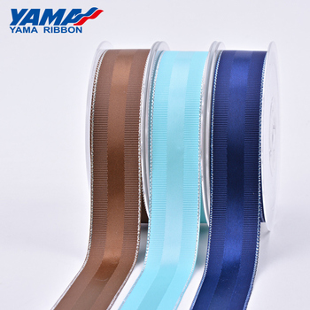 YAMA new arrival grosgrain sided satin silver ribbon for gift packing bows