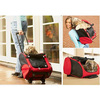 OEM 600D Oxford Airline foldable Wheel Luggage Bag Pet Carrier Travel