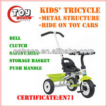 Kids' Tricycle with Storage Basket(3 Asst)