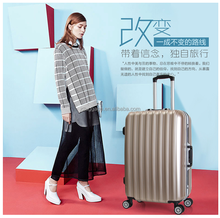 BEIBYE travel house luggage with tsa lock,aluminum trolley luggage