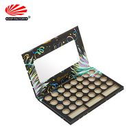 Wholesale Custom Luxury Premium Empty Single Rigid Cardboard Paper Packaging Cosmetic Magnetic Eyeshadow Palette Box