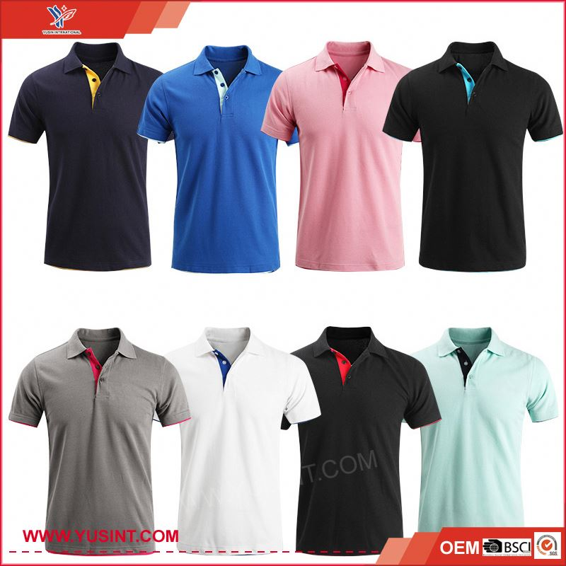 wholesale garment market in mumbai top polyester korean fashion polo shirt