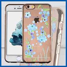 C&T Transparent Plating TPU Bling Rhinestone Cell Phone Case For iPhone 6s