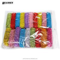 Wholesale Big Telephone Line Elastic Hair Bands Bright Yarn Women Hair Accessories Decorative Hair Ties Popular Ponytail Holder