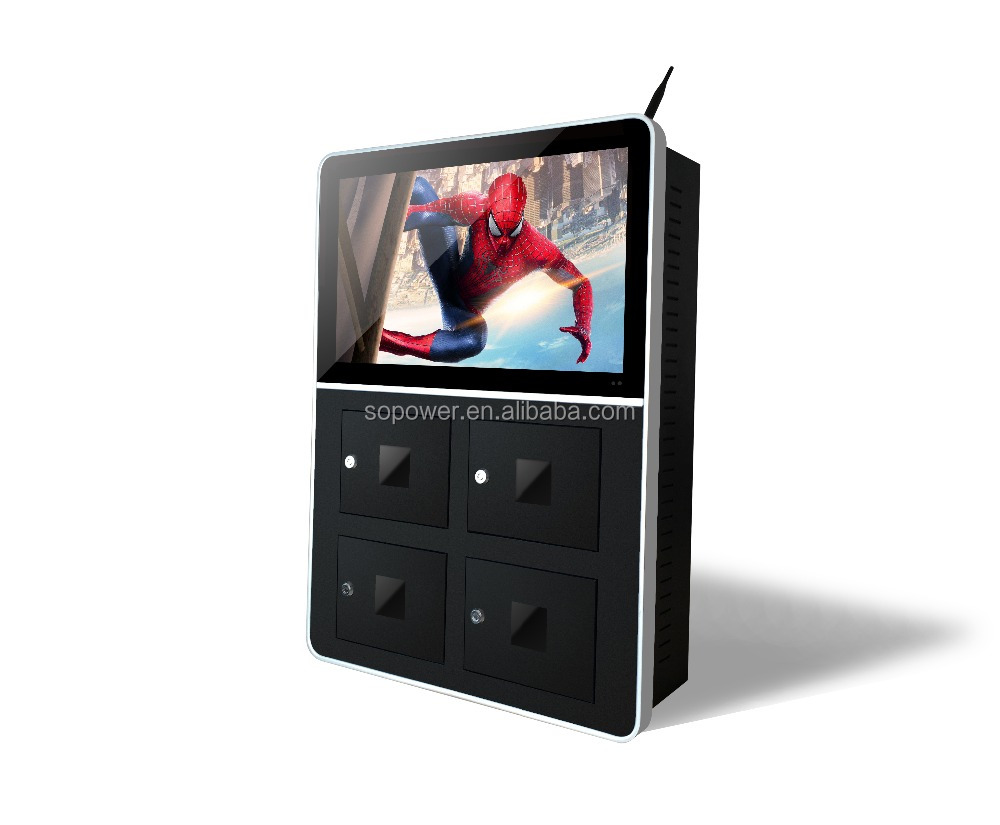 Indoor/Outdoor Advertising Media Player 22 inch Full HD Digital Signage With Charging Box