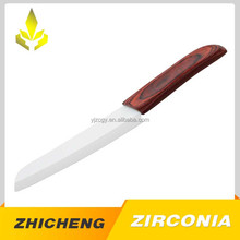 Color wooden handle ceramic white knife for kitchen