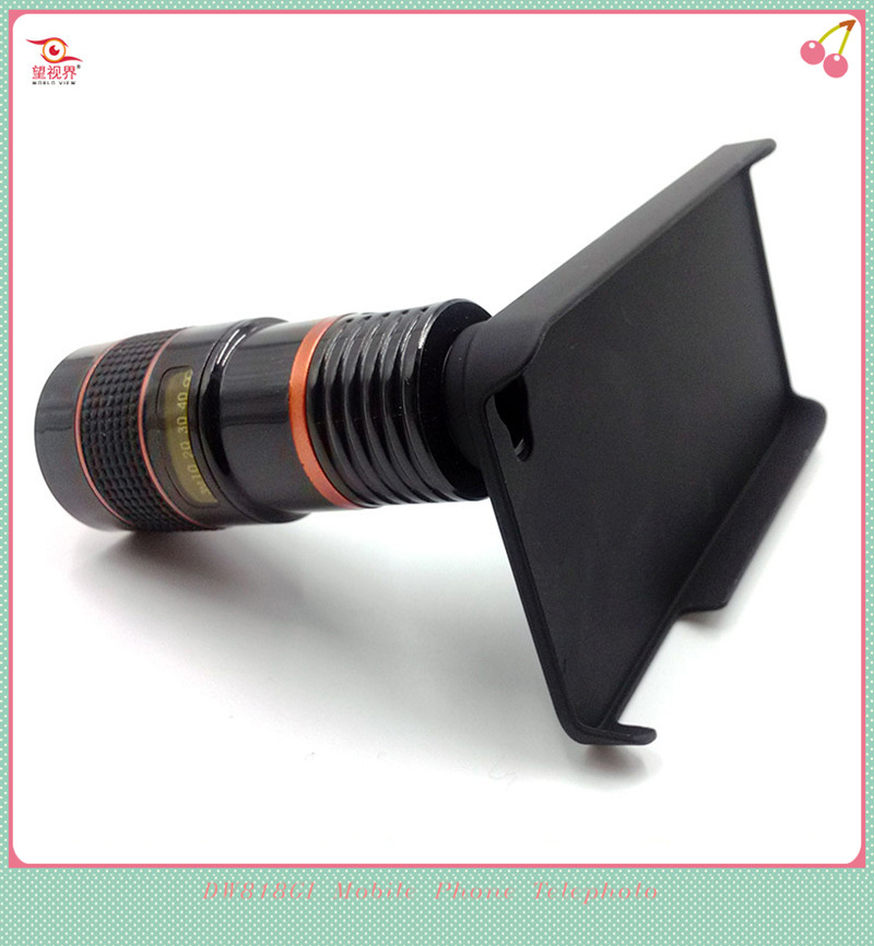 2015 New Design 8X Single-tube Mobile Phone Telescope With Universal Mobile Phone Case for Iphone