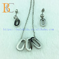 GuangZhou China Artificial Crystal Fashion Imitation Jewelry Silver Wholesale