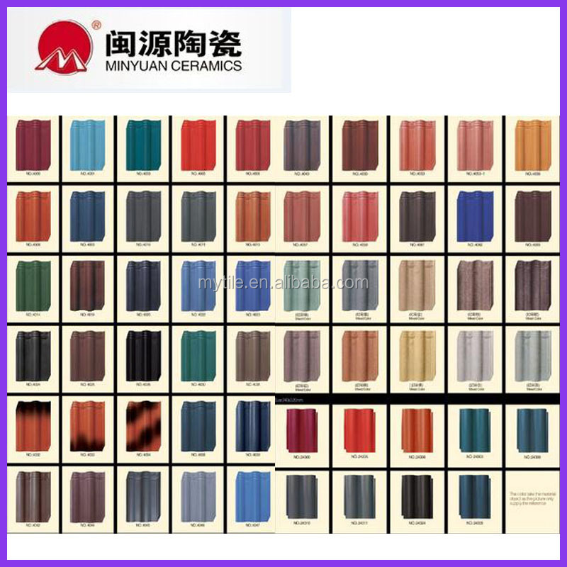Rose Red Color ceramic roof tile made in China