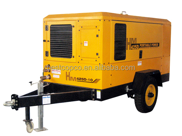 Bristol mobile portable diesel screw air compressor