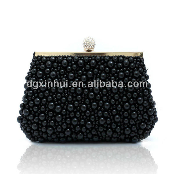 2017 fashion Mini coin beaded pouch with clip lock/Coin purses