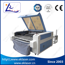 Leather / Acrylic / Plastic / Wood / Cloths / Garment printed textile laser cutting machine