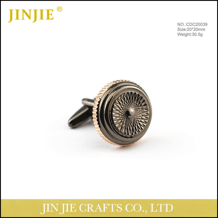 engraved gun color customized jewelry cufflink
