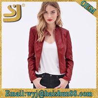 European style leather jackets women 2015,custom first genuine leather jackets
