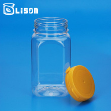 Food Grade Clear 310ml Plastic Square Jar For Cookie Storage