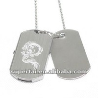 Custom logo metal dog tag usb pen drive 2gb 4gb 8gb