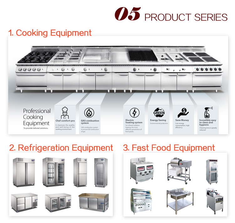 Industrial Quality Stainless Steel Commercial Hotel Restaurant Kitchen Equipment List(One-stop Solution)