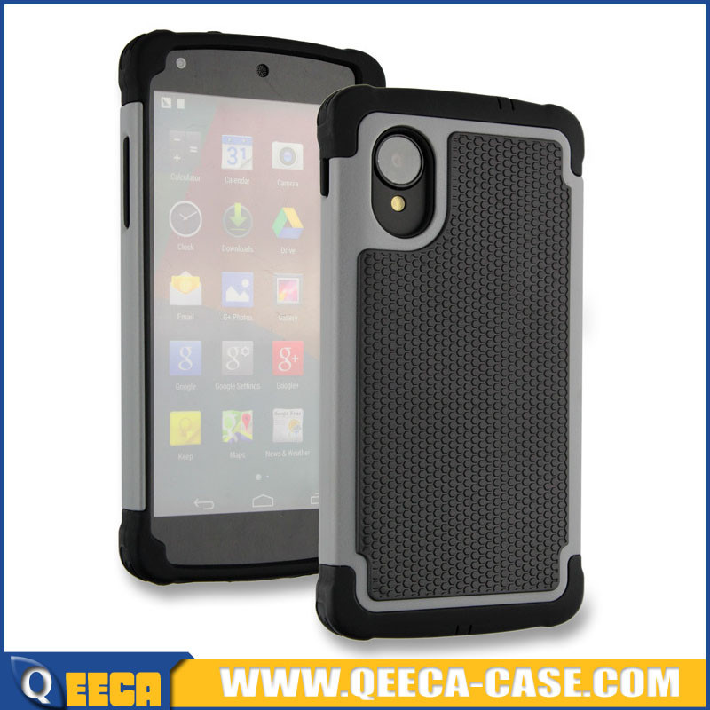 Wholesale PC silicone rugged rubber case for google nexus 5 waterproof case