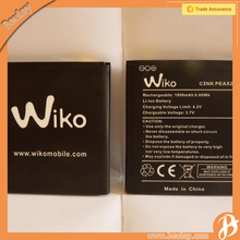 High capacity battery lipo 3.7v for wiko cink peax 2 mobile