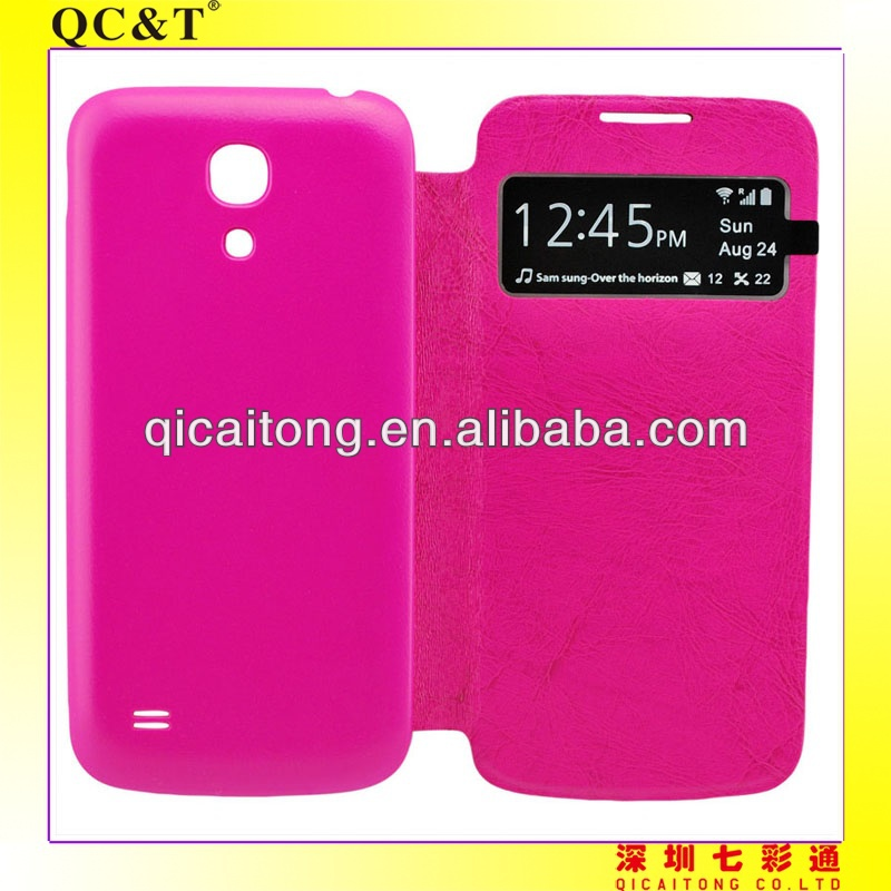 cheap wallet pu leather cell mobile phone case for s4mini /i9190