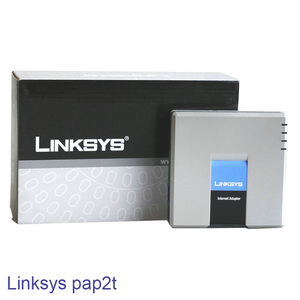 New price With UK US EU AU Plug sip voip adapter Linksys pap2t