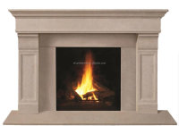 classic carved white marble fireplace mantel