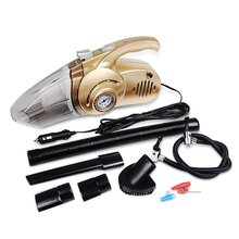 Car Vacuum Cleaner 4 in 1 High Power 12v Wet and Dry Portable Handheld Auto Vacuum-14 Foot Power Cord with HEPA Filter-LED Lamp,