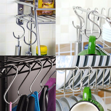 Multipurpose S Shape Metal Hook Hanger for Kitchenware Clothes
