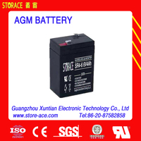 small battery with 6 volt 6v 4ah storage (SR4-6) Sealed Lead Acid Battery