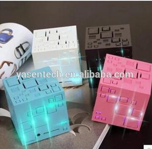 Universal Magic cube bluetooth speaker portable mini Hands free Music With FM Radio Support TF Card USB