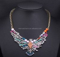 bird style fashion gold metal necklace jewelry