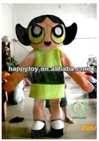 HI CE High quality top sale Power Puff Girl mascot costume for adults