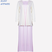 Latest Muslim women jubah flower printing dubai dress Fashion Wholesale Muslimah New Style jubah abaya for women