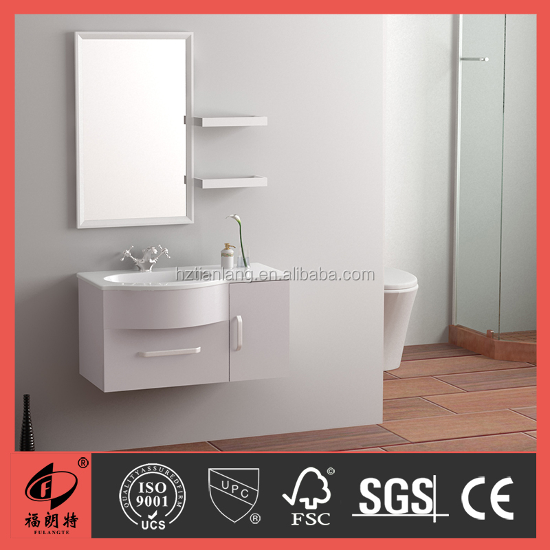 900MM PVC bathroom cabinet with white high gloss color 1048