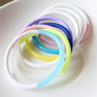 mixed color Silica Gel Hair accessories rubber hair bands