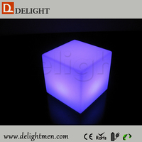 waterproof led cube chair lighting/ led cube seat lighting/ flashing led ice cube with lighting