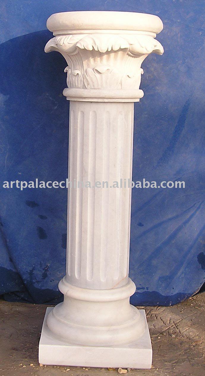 Columna de marmol blanco pilares identificaci n del - Columna de marmol ...
